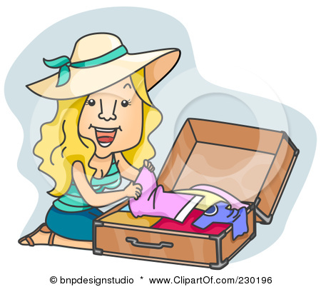 I'm All Packed (well…mostly) – Ella Medler Packing Luggage Clipart