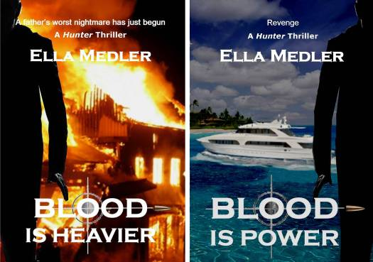 Hunter series ebook covers. Ella Medler