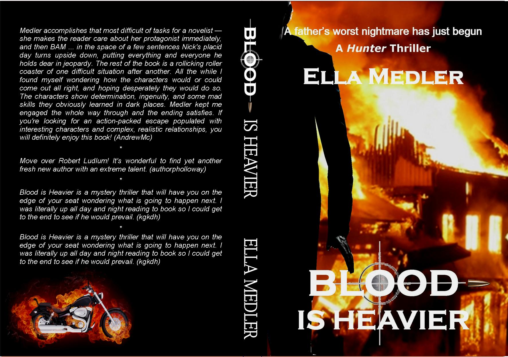 BLOOD IS HEAVIER WRAP COVER